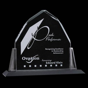 Avalon Award - Starfire Crystal with Pewter Posts 8 in.x9 in.