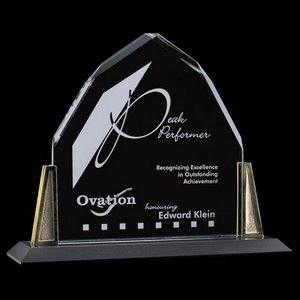 Avalon Award - Starfire Crystal with Gold Posts 10 in.x 10 in.