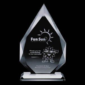 Hawthorne Award - Starfire Crystal Engraved 7 in.