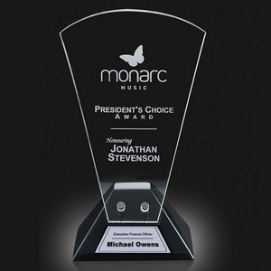 Carlyle Award - Starfire/Black Base 9 in.