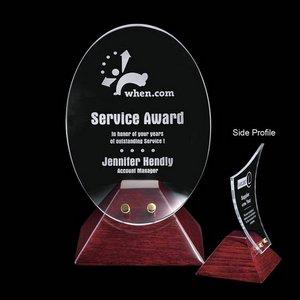 Fresco Award - Starfire/Rosewood Base 8 in.