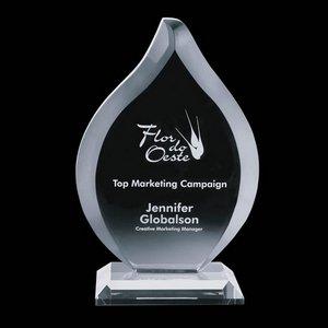 Worthington Crystal Flame Award - Starfire 8 in.