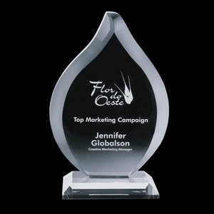 Worthington Crystal Flame Award - Starfire 11 in.