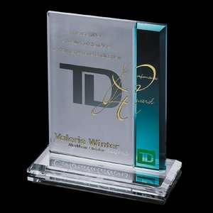Claremont Award - Starfire/Blue 6 in.x8 in.