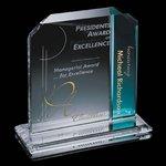Fairbanks Award - Starfire/Blue 7 in.x8 in.