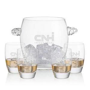 Belfast Ice Bucket and 4 On-the-Rocks Glasses
