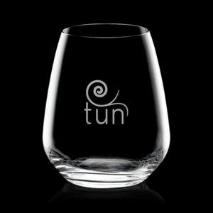 Brunswick Stemless Wine Glasses Engraved - 14oz Crystalline