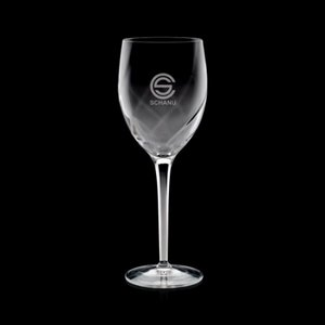 Hodgkin Wine Glasses Engraved - 9oz Crystalline