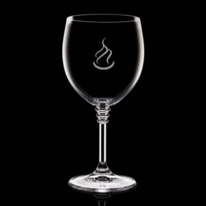 Fiore Wine Glasses Engraved - 12oz Crystalline