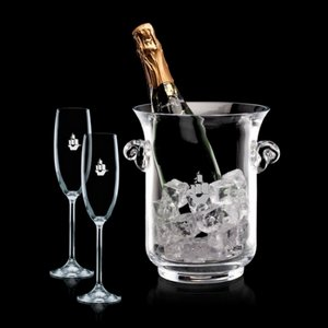 Lyndhurst Champagne Bucket and 2 Flutes