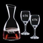 Rathburn Carafe and 2 Wine Glasses Engraved