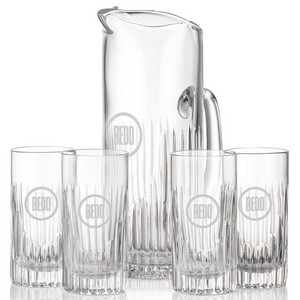 Carey Pitcher and 4 Hiball Glasses