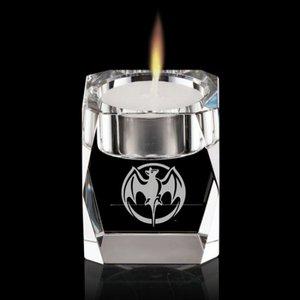 Abbey Candleholder - Optical Crystal 2-3/8