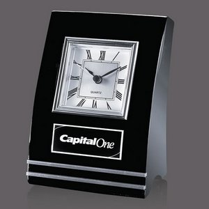 Wickham Clock - Black/Aluminum 6.5 in.