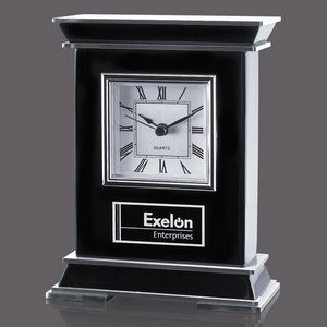 Tilden Clock - Black/Aluminum 7.25 in.