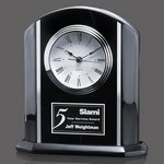 Putman Clock - Black/Aluminum 7-7/8 in.