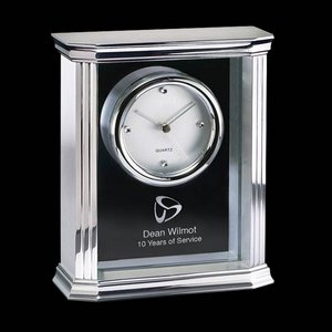 Thornbury Mantle Clock - Aluminum and Glass 7.5 in.