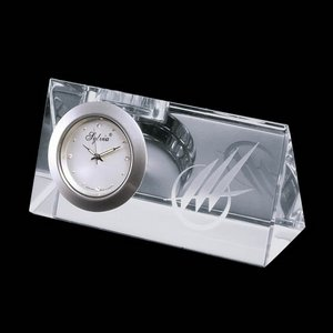 Dufferin Clock - Optical Crystal 4 in. Wide