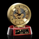 Conchita Clock - Gold/Rosewood 5.25 High