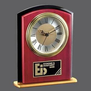 Keele Clock - Rosewood/Black/Gold 6.5 in.