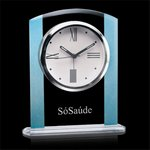 Broadland Clock - Clear with Blue 6 1/4