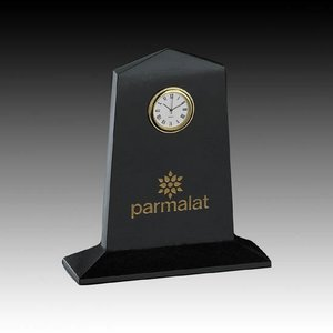 Marble Clock - 7 in. Pentagon