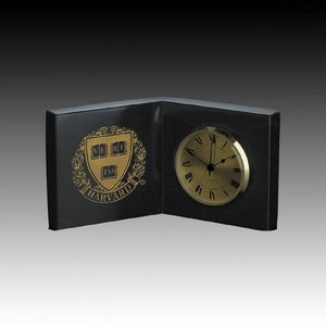 Marble Clock - 8 in. x 5 in. Open Book