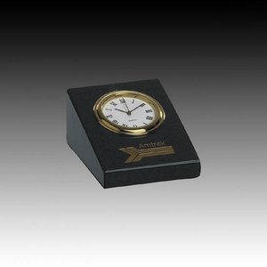 Marble Clock - 2 in. x 3 in. Wedge