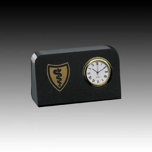 Marble Clock - 4 in. x 2.5 in. Rectangle