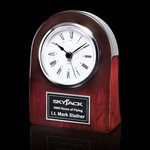 Dexter Clock - Rosewood/Chrome 4.5 in