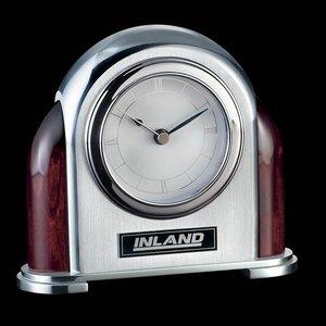 Newtonbrook Clock - Aluminum/Rosewood 5 in.