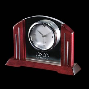 Regency Clock (1 Face) - Rosewood 8 in.