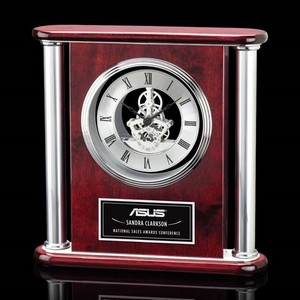 Orwell Clock - Rosewood/Silver 11? in