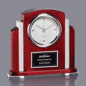 Alma Clock - Rosewood/Aluminum 7 in