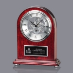 Judson Clock - Rosewood/Silver 7 1/4 in