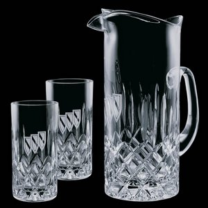 Denby Pitcher and 2 Hiball Glasses