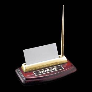 Corbett Pen/Cardholder - Rosewood/Gold