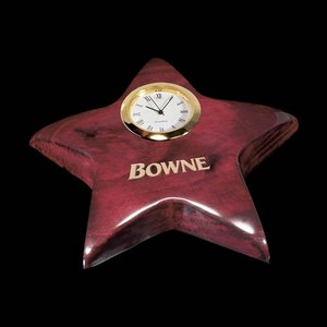 Elgin Star Paperweight/Clock - Rosewood