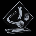 Barrick Crystal Golf Award - 6 in. High
