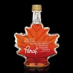Maple Syrup Custom Etched-  Maple Leaf Design 500ml