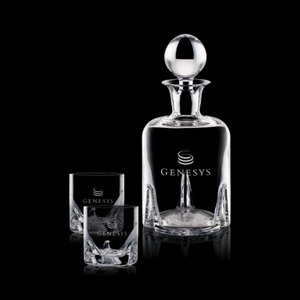 Hillcrest Decanter and 2 On-the-Rocks Glasses