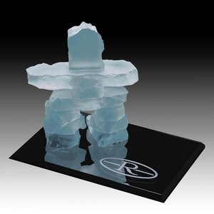 Inukshuk on Ebony - Frosted 3.5 in.