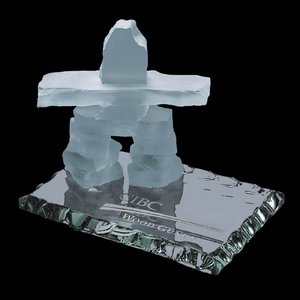 Inukshuk on Jade - Frosted 3.5 in.