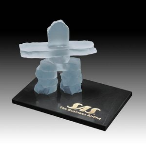 Inukshuk on Marble - Frosted 7.5 in.