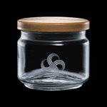 Finch Jar with Wooden Lid - 16oz Small