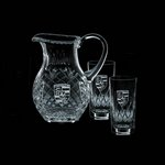 Medallion Pitcher and 2 Hiball Glass