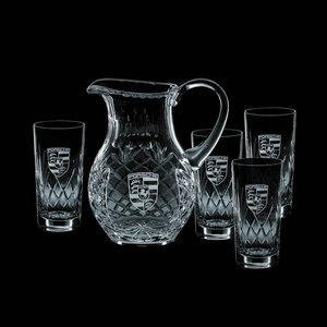 Medallion Pitcher and 4 Hiball Glass