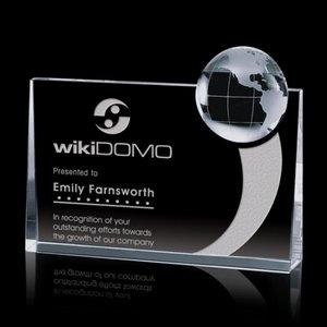 Erminia Globe Award - Optical Crystal 6 .5x8 in.