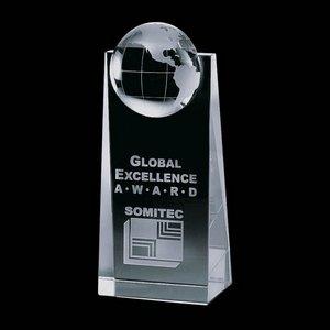 Sherbourne Globe Award - Optical Crystal 6 in.