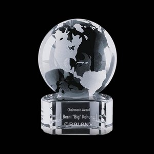 Globe on Paragon Clear Base - 2-3/8 in. Diam